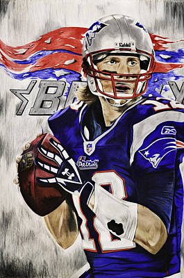 Mixed Media - Tom Brady by Ryan Doray