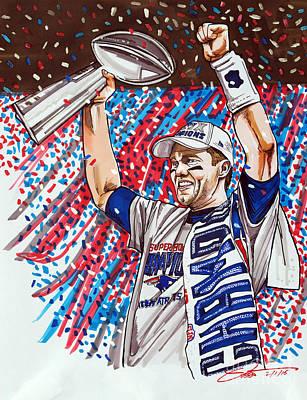 Tom Brady Superbowl Xlix Mvp Art Print by Dave Olsen