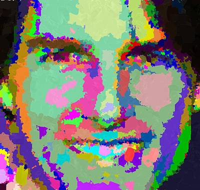 Painting - Tom Cruise - Abstract 01 by Samuel Majcen
