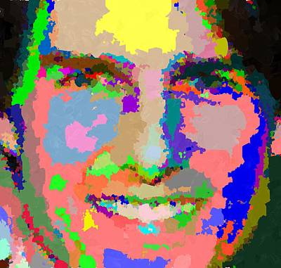 Painting - Tom Cruise - Abstract by Samuel Majcen