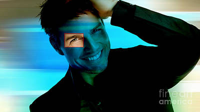 Op Art Mixed Media - Tom Cruise  by Marvin Blaine