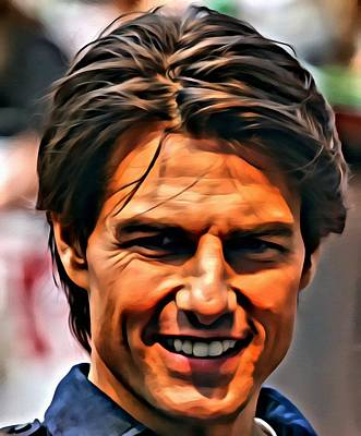 Painting - Tom Cruise Portrait by Florian Rodarte