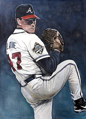 Upton Painting - Tom Glavine - Atlanta Braves World Series by Michael  Pattison