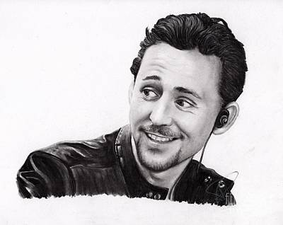 Drawing - Tom Hiddleston 2 by Rosalinda Markle