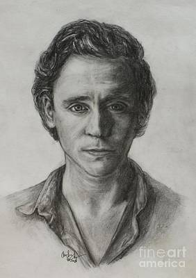 Thor Drawing Drawing - Tom Hiddleston by Christine Jepsen