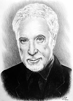 Person Drawing - Tom Jones by Andrew Read