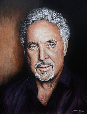 Painting - Tom Jones The Voice by Andrew Read