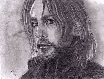 Tom Mison As Ichabod Crane From Sleepy Hollow  Art Print by Gracja Waniewska