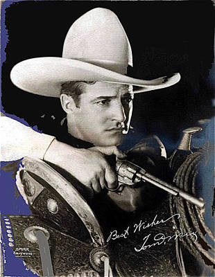 Tom Mix Portrait Melbourne Spurr Hollywood California C.1925-2013 Art Print by David Lee Guss