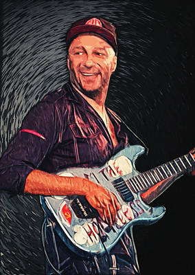 Linkin Park Digital Art - Tom Morello by Taylan Apukovska