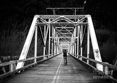 Iphone4 Photograph - Tom On The Bridge by Susan Serna