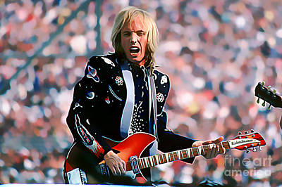 Tom Petty At Live Aid In Philadelphia Art Print