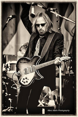 Celebrities Photograph - Tom Petty by Marc Malin