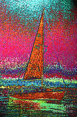 First Star Art By Jrr Digital Art - Tom Ray's Sailboat 3 by First Star Art