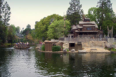 Bobsled Photograph - Tom Sawyer Island Frontierland Disneyland 01 by Thomas Woolworth