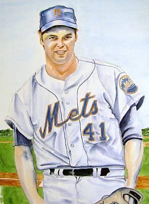 Tom Seaver Painting - Tom Seaver by Brian Degnon