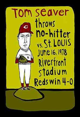 Tom Seaver Painting - Tom Seaver Cincinnati Reds by Jay Perkins