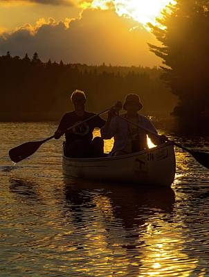 Canoe Photograph - Tom Thomson Lake by Jim West