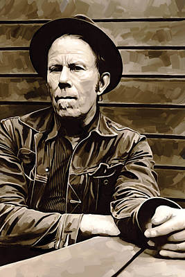 Singer Painting - Tom Waits Artwork 2 by Sheraz A