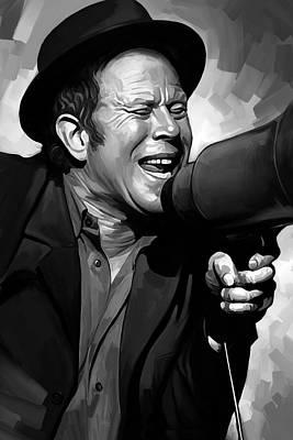 Jazz Poster Art Painting - Tom Waits Artwork  3 by Sheraz A