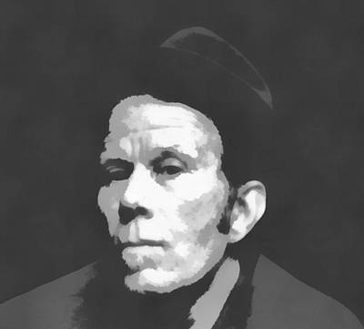 Tom Waits Charcoal Poster Art Print by Dan Sproul