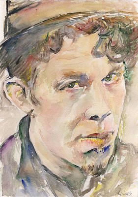 Robert Plant Framed Painting - Tom Waits by Marina Sotiriou