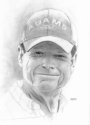 Drawing - Tom Watson by Pat Moore