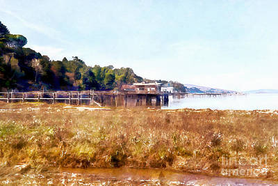 Photograph - Tomales Bay At Inverness Point Reyes California Dsc2068wc by Wingsdomain Art and Photography