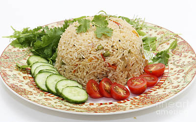Photograph - Tomato Biryani And Salad by Paul Cowan