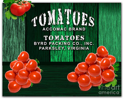 Tomato Farm Print by Marvin Blaine