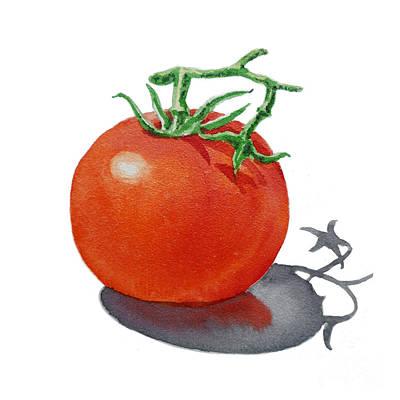 Red Tomatoes Painting - Tomato by Irina Sztukowski