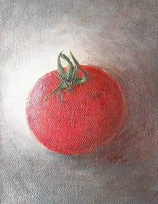 Art Print featuring the painting Tomato by Jane  See