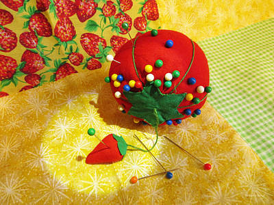 Photograph - Tomato Pincushion  by Shawna Rowe