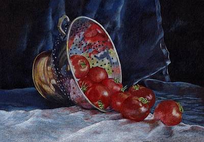 Tomato Drawing - Tomato Soup For Tea by Liz  Lamb