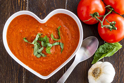Autumn Soup Photograph - Tomato Soup Love by Teri Virbickis