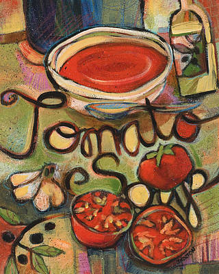Tomato Soup Recipe Art Print