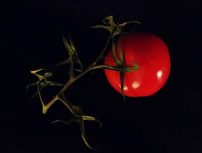 Tomato With Stem Art Print by Patricia Januszkiewicz