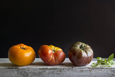 Tomatoes And Basil Art Print