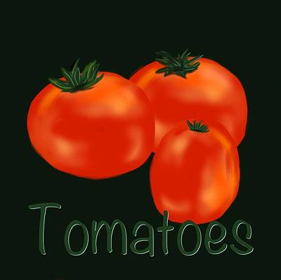 Tomatoes Art Print by Christine Fournier