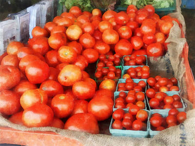 Vegetable Stand Photograph - Tomatoes For Sale by Susan Savad