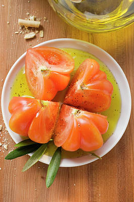 Tomatoes In Olive Oil Art Print