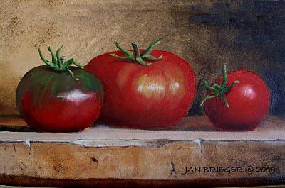 Tomatoes Art Print by Jan Brieger-Scranton