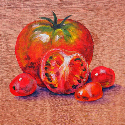 Tomatoes Art Print by Judy Bruning