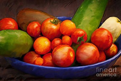 Painting - Tomatoes by Lutz Baar