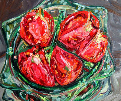 Dinner Party Invitation Painting - Tomatoes by Melissa Sarat