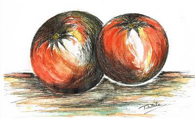 White House Mixed Media - Juicy Tomatoes by Teresa White
