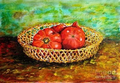 Painting - Tomatoes by Zaira Dzhaubaeva