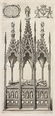 Aristocrat Photograph - Tomb Of A King Of England by British Library