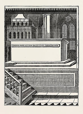 Westminster Abbey Drawing - Tomb Of Edward by Litz Collection