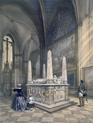 Tomb Of Gustav I In Uppsala Cathedral Art Print by Karl Johann Billmark